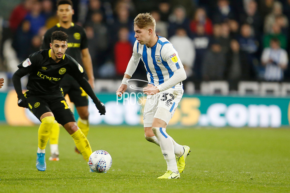 Emile Smith Rowe of Huddersfield Town during the EFL Sky Bet Championship match between Huddersfield Town and Brentford at the John Smiths Stadium, Huddersfield, England on 18 January 2020.