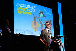 Lincolnshire Sports Awards 2018 held at The Lincolnshire Showground.<br /> <br /> Picture: Chris Vaughan Photography for Active Lincolnshire<br /> Date: November 1, 2018Active Lincolnshire interim chairman Dennis Bell<br /> <br /> Lincolnshire Sports Awards 2018 held at The Lincolnshire Showground.<br /> <br /> Picture: Chris Vaughan Photography for Active Lincolnshire<br /> Date: November 1, 2018