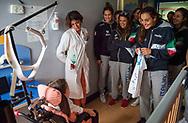 Visita Sette Rosa Ospedale Policlinico Universitario Agostino Gemelli<br /> Photo Pasquale Mesiano/ Deepbluemedia /Insidefoto