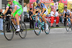 Napoli, Italy - Giro d'Italia - May 4, 2013 - The leading pack in the middle of the race