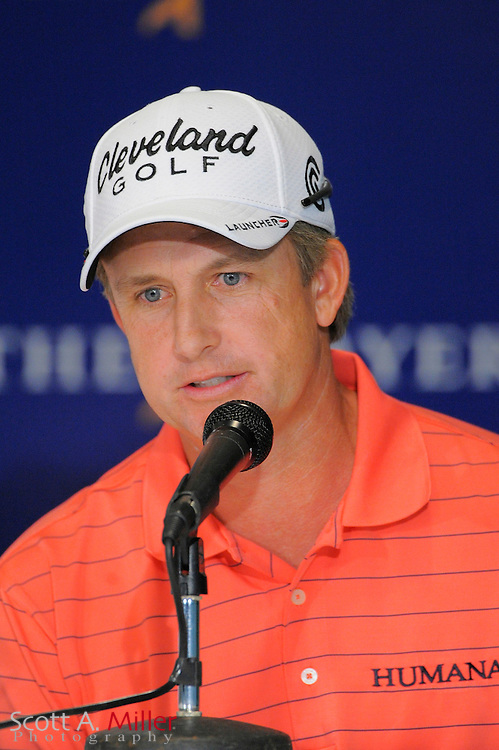 David Toms speaks to the media during a pre-tournament press conference at TPC Sawgrass on May 5, 2009 in Ponte Vedra Beach, Florida.     ©2009 Scott A. Miller