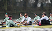 London, Great Britain, Cambridge, Listo left to right, cox, Hugo RAMAMBASON, Ben RUBLE, Henry HOFFSHOT, during  the BNY Mellon, 2016 University Men's Boat Race, Trail Eights Race.  Putney to Mortlake. ENGLAND. <br /> <br /> Sunday 13.12.2015<br /> <br /> [Mandatory Credit; Peter Spurrier/Intersport-images]<br /> <br /> CUBC Trial VIII's between FUERTE on Surrey and LISTO on Middlesex<br /> <br /> FUERTE, Bow, Peter Carey, 2, Patrick Elwood, 3, Alister Taylor, 4, Peter Rees, 5, Charlie Fisher, 6, Ali Abbasi, 7, Luke Juckett, Stroke, Lance Tredell, Cox, Ian Middleton<br /> <br /> LISTO, Bow, Piers Kasas, Felix Newman, 3, Sam Ringer, 4, Joe Carroll, 5, Clemens Auersperg, 6, Vincent Bertram, 7, Henry Hoffstot, Stroke, Ben Ruble, Cox, Hugo Ramambason