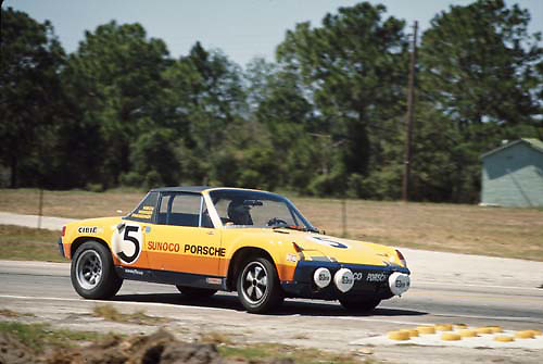 Sebring 12-Hour race 1971,  Porsche no. 5; Photo by Pete Lyons 1971/ © 2014 Pete Lyons / petelyons.com