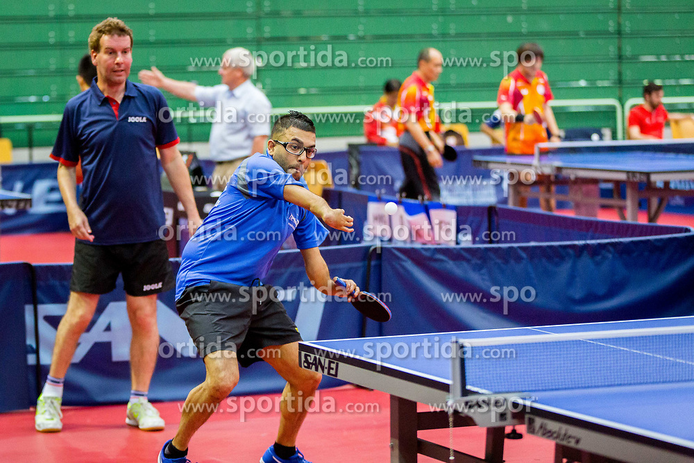 (Team CZE) HORUT Daniel and DESPINEUX Ben Ashok in action during 15th Slovenia Open - Thermana Lasko 2018 Table Tennis for the Disabled, on May 10, 2018 in Dvorana Tri Lilije, Lasko, Slovenia. Photo by Ziga Zupan / Sportida