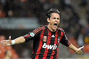 © Filippo Alfero<br /> Milano, 29/10/2008<br /> sport , calcio<br /> Milan vs Siena - Serie A 2008 / 2009<br /> Nella foto: esultanza Inzaghi gol 1-0<br /> <br /> © Filippo Alfero<br /> Milan, Italy, 29/10/2008<br /> Italian soccer<br /> Milan vs Siena - Serie A 2008 / 2009<br /> In the photo: Inzaghi celebrates his 1-0 goal