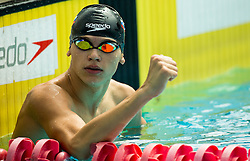 Vito Vodenik of Branik Maribor competes in 4x100m Medley during Slovenian Swimming National Championship 2014, on August 3, 2014 in Ravne na Koroskem, Slovenia. Photo by Vid Ponikvar / Sportida.com