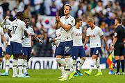 Tottenham Hotspur forward Harry Kane (10) celebrates at full time during the Premier League match between Tottenham Hotspur and Crystal Palace at Tottenham Hotspur Stadium, London, United Kingdom on 14 September 2019.