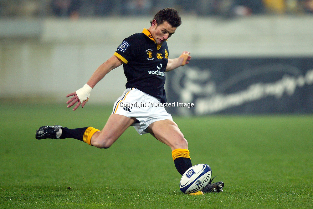 3 August 2004, Westpac Stadium, Wellington, <br /> New Zealand, Rugby Union, NPC Div 1<br /> Wellington Lions vs Canterbury<br /> Lion's David Holwell during Wellington's 34-22 win over Canterbury on Friday night.<br /> Please Credit: Marty Melville/Photosport
