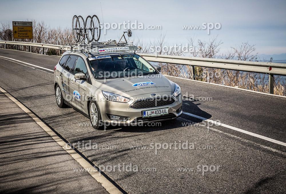 Slovenia team car during the UCI Class 1.2 professional race 4th Grand Prix Izola, on February 26, 2017 in Izola / Isola, Slovenia. Photo by Vid Ponikvar / Sportida
