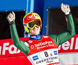 06.02.2011, Heini Klopfer Skiflugschanze, Oberstdorf, GER, FIS World Cup, Ski Jumping, Teamwettbewerb, Finale, im Bild Tom Hilde (NOR) , during ski jump at the ski jumping world cup Trail round in Oberstdorf, Germany on 06/02/2011, EXPA Pictures © 2011, PhotoCredit: EXPA/ P. Rinderer