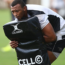 DURBAN, SOUTH AFRICA, 17 November 2015 -Lubabalo 'Giant' Mtyanda during The Pre-season training squad and coaching team announcement at Growthpoint Kings Park in Durban, South Africa. (Photo by Steve Haag)<br /> images for social media must have consent from Steve Haag