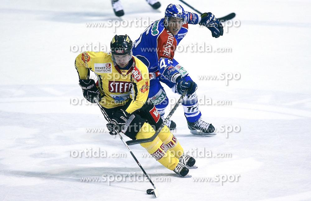 28.10.2011, Dom Sportava, Zagreb, CRO, EBEL, KHL MEDVESCAK ZAGREB vs UPC Vienna Capitals, im Bild..David Brine (45)...// during EBEL Eishockey game between Medvescak KHL Zagreb and UPC Vienna Capitals at Dom Sportava in Zagreb, Croatia on 2011/10/28.   Foto ©  nph / PIXSELL / Sanjin Strukic       ****** out of GER / CRO  / BEL ******