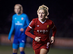 WIDNES, ENGLAND - Wednesday, February 7, 2018: Liverpool's Laura Coombs during the FA Women's Super League 1 match between Liverpool Ladies FC and Arsenal Ladies FC at the Halton Stadium. (Pic by David Rawcliffe/Propaganda)
