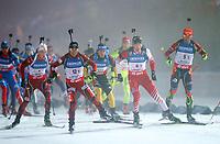 Skiskyting<br /> IBU World Cup<br /> Oberhof Tyskland<br /> 04.01.2013<br /> Foto: Gepa/Digitalsport<br /> NORWAY ONLY<br /> <br /> IBU Weltcup, 4x7,5km Staffel der Herren. <br /> <br /> Bild zeigt Henrik L'Abee-Lund (NOR), Michail Kletcherov (BUL), Simon Eder (AUT) und Michal Slesingr (CZE).