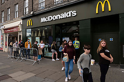 Princes Street in Edinburgh has been hit hard by the Covid19 lockdown and the locals are taking time to get used to new freedoms. Queues outside fast food outlets are, sadly, no surprise.