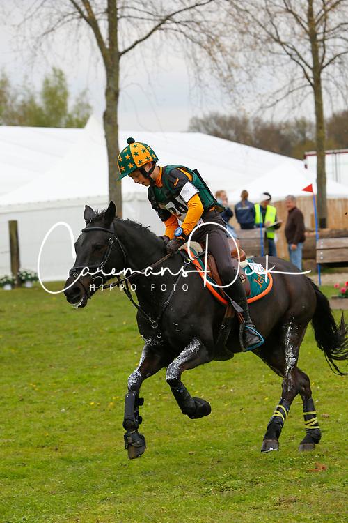Sutherland Jef, BEL, Espoir<br /> Nationale LRV-Eventingkampioenschap Ponies Minderhout 2017<br /> &copy; Hippo Foto - Kris Van Steen<br /> 29/04/17