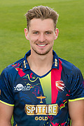 Matt Hunn of Kent  during the Kent County Cricket Club Headshots 2017 Press Day at the Spitfire Ground, Canterbury, United Kingdom on 31 March 2017. Photo by Martin Cole.