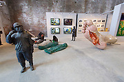 "55th Art Biennale in Venice - The Encyclopedic Palace (Il Palazzo Enciclopedico).<br /> Arsenale Nord. ""Passage to History: 20 Years of La Biennale di Venezia and Chinese Contemporary Art"".<br /> Zhang Jianhua, ""Black Gold"", 2010."
