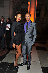JADE EWEN and ? at the 50th birthday party for Jonathan Shalit held at the V&A Museum, London on 17th April 2012.
