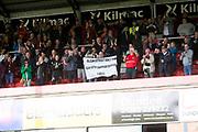 8th September 2019; Dens Park, Dundee, Scotland; Tunnocks Caramel Wafer Cup, Dundee Football Club versus Elgin City; Elgin fans joy at full time