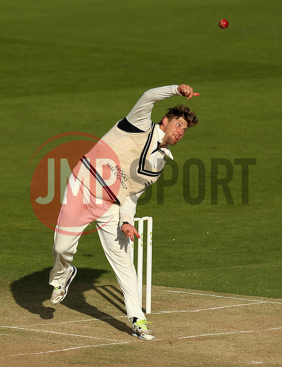 Middlesex's Ollie Rayner bowls - Photo mandatory by-line: Robbie Stephenson/JMP - Mobile: 07966 386802 - 03/05/2015 - SPORT - Football - London - Lords  - Middlesex CCC v Durham CCC - County Championship Division One