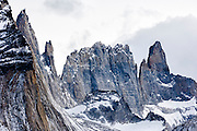Rugged mountains, Torres del Paine National Park, Chile