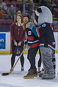 KELOWNA, CANADA - FEBRUARY 14:  London Drugs at the Kelowna Rockets game on February 14, 2018 at Prospera Place in Kelowna, British Columbia, Canada.  (Photo By Cindy Rogers/Nyasa Photography,  *** Local Caption ***