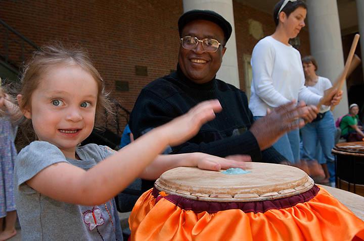 18885World Drumming Party : International week. ...Dr. Paschal Young & Emma Hartman(3)