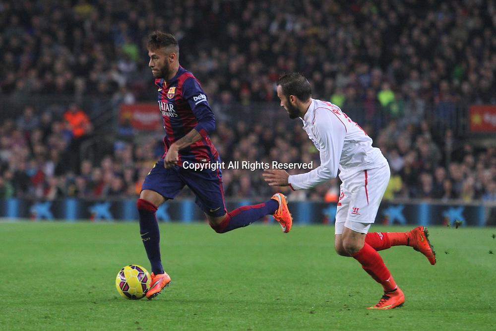 22.11.2014. Barcelona. Spain, La Liga football. Barcelona versus Sevilla. Barcelona versus Sevilla.  Neymar in action at Camp Nou