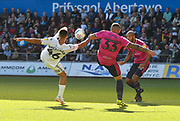Goal - Courtney Baker-Richardson (46) of Swansea City scores a goal to give a 1-0 lead to the home team during the EFL Sky Bet Championship match between Swansea City and Queens Park Rangers at the Liberty Stadium, Swansea, Wales on 29 September 2018.