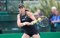 NOTTINGHAM, ENGLAND - JUNE 17: Johanna Konta of Great Britain in action against Ashleigh Barty of Australia during Day Nine of the Nature Valley Open at Nottingham Tennis Centre on June 17, 2018 in Nottingham, United Kingdom. (MB Media)