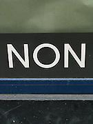 Non, nein, no! Ecriture, tags, graffitis lettres et signes. © Romano P. Riedo