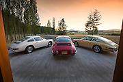 Image of Porsche 911s at the Road Scholars West facility on San Juan Island, Washington, Pacific Northwest