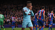 Dimitri Payet holds his breathe as West Ham miss an early chance during the Barclays Premier League match between Crystal Palace and West Ham United at Selhurst Park, London, England on 17 October 2015. Photo by Michael Hulf.