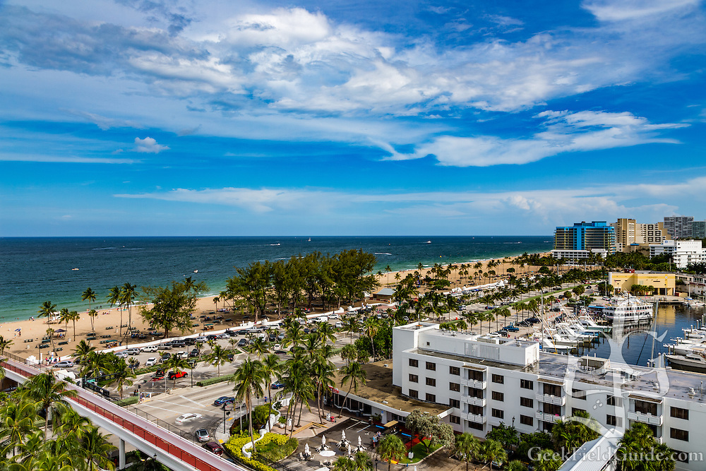 The view from the Bahia Mar hotel in Fort Lauderdale, Florida.