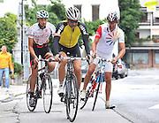 Arta Terme (UD), 27/07/2011.Campionato di calcio Serie A 2011/2012.Mr Francesco Guidolin parte per il consueto giro in bicicletta..© foto di Simone Ferraro