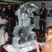 NLD/Harderwijk/20130515 - Premiere Aqua Bella show Dolfinarium Harderwijk, ijssculptuur