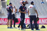 Moeen Ali warms up during the International T20 match between England and India at Old Trafford, Manchester, England on 3 July 2018. Picture by George Franks.