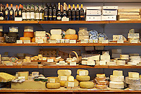 Ultracomida<br /> Delicatessen<br /> Shop interior<br /> Cheese display<br /> Aberystwyth<br /> Ceredigion<br /> Mid Wales - Coast<br /> Towns And Villages