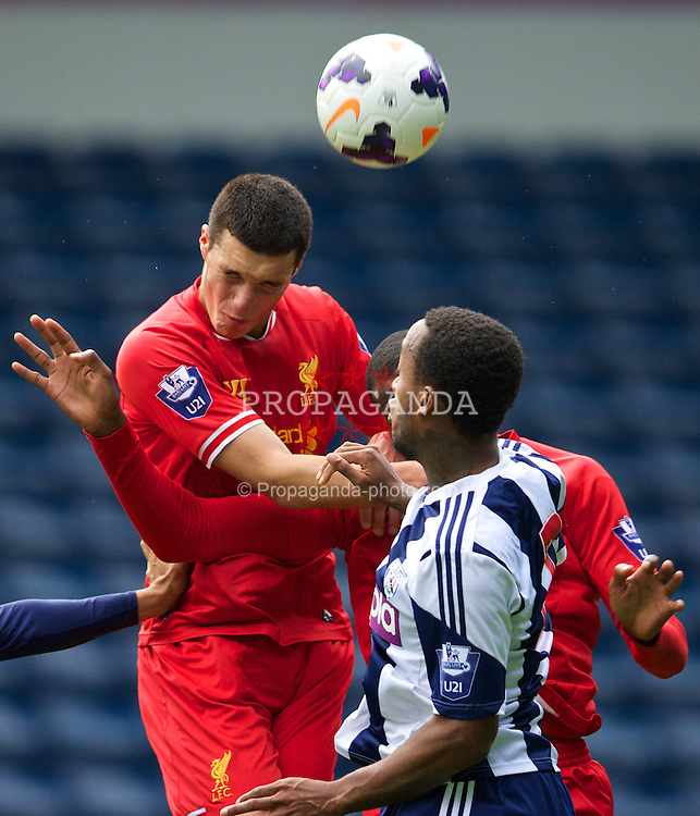 WEST BROMWICH, ENGLAND - Sunday, October 20, 2013: Liverpool's Lloyd Jones in action against West Bromwich Albion during the Under 21 FA Premier League match at the Hawthorns. (Pic by David Rawcliffe/Propaganda)