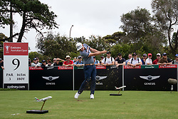 November 15, 2018 - Sydney, NSW, U.S. - SYDNEY, AUSTRALIA - NOVEMBER 15: Cameron Smith (AUS) on the ninth tee at Day 1 of The Emirates Australian Open Golf on November 15, 2019, at The Lakes Golf Club in Sydney, Australia. (Photo by Speed Media/Icon Sportswire) (Credit Image: © Speed Media/Icon SMI via ZUMA Press)