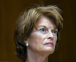 July 19, 2017 - Washington, District of Columbia, U.S - Senator Lisa Murkowski Republican of Alaska listens to witness during a Senate Subcommittee hearing on Appropriations  Washington DC. June 13, 2017. (Credit Image: © Mark Reinstein via ZUMA Wire)