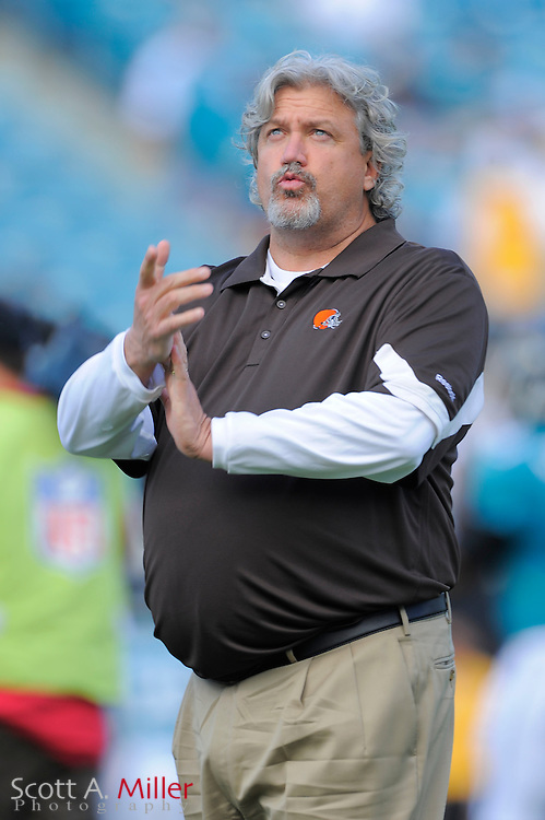 Cleveland Browns defensive coordinator Rob Ryan during the Jags 24-20 win over the Cleveland Browns at EverBank Field on November 21, 2010 in Jacksonville, Florida...©2010 Scott A. Miller
