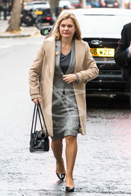 London, December 03 2017. Education Secretary Justine Greening attends the Andrew Marr Show at the BBC's New Broadcasting House in London.. © Paul Davey