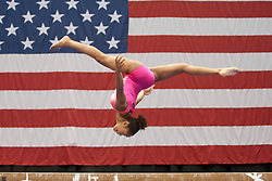 USA Gymnastics GK Classic - Schottenstein Center, Columbus, OH - July 28th, 2018.  Shania Adams during warm-ups,  competes on the beam  at the Schottenstein Center in Columbus, OH; in the USA Gymnastics GK Classic in the senior division. Simone Biles won the allround with Riley McCusker second and Morgan Hurd third. - Photo by Wally Nell/ZUMA Press