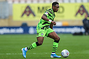Forest Green Rovers Udoka Godwin-Malife(22) on the ball during the EFL Sky Bet League 2 match between Cambridge United and Forest Green Rovers at the Cambs Glass Stadium, Cambridge, England on 7 September 2019.