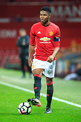 © Licensed to London News Pictures . 12/12/2016 . Manchester , UK . MUFC Captain TYRELL WARREN . Manchester United vs Southampton FA Youth Cup Third Round match at Old Trafford . Photo credit : Joel Goodman/LNP