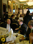 Michael Cockerell and Michael Ancram, Political Studies Association Awards 2004. Institute of Directors, Pall Mall. London SW1. 30 November 2004.  ONE TIME USE ONLY - DO NOT ARCHIVE  © Copyright Photograph by Dafydd Jones 66 Stockwell Park Rd. London SW9 0DA Tel 020 7733 0108 www.dafjones.com