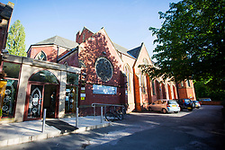 © Licensed to London News Pictures. 23/05/2017. Manchester UK. Picture shows the Didsbury Mosque on Burton Road in Didsbury, Manchester. The Imam Mohammed Saeed has confirmed the mosque as the worship place of Salman Abedi who has been named as the Manchester bomber by Greater Manchester Police. Photo credit: London News Pictures