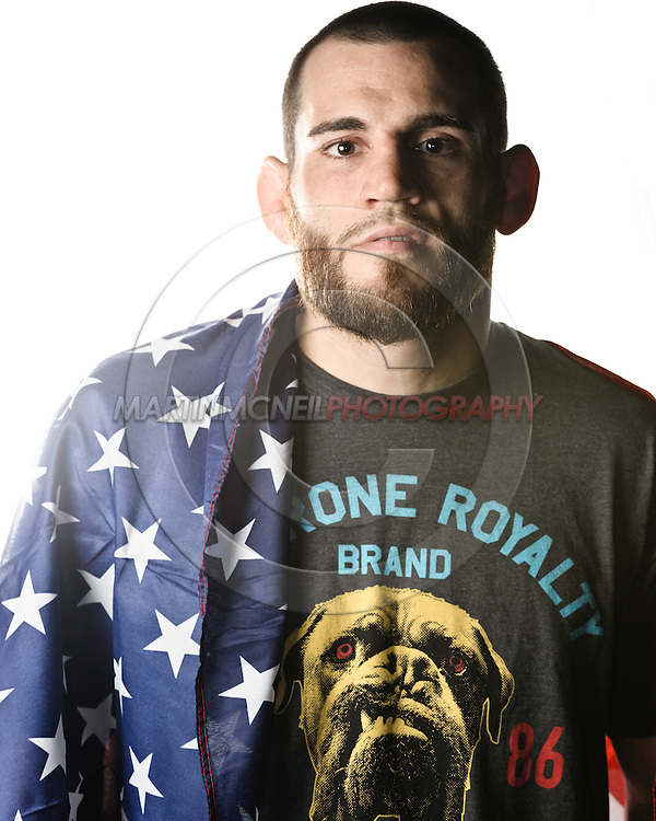 A portrait of mixed martial arts athlete Jon Fitch